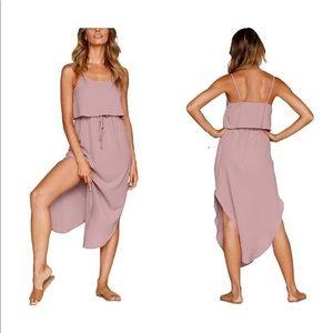 Dresses & Skirts - Strappy Split Midi Dress- Blush
